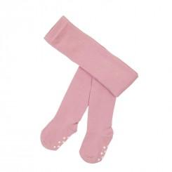 Villervalla - Rosa strømpebukser anti-slip