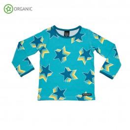 Villervalla - Bluse blå m/ stjerner