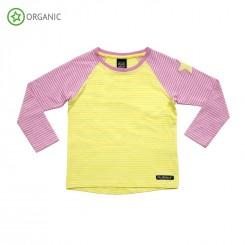 Villervalla - Bluse, gul med striber