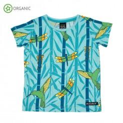 Villervalla - T-shirt med bambus-print