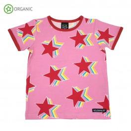 Villervalla - T-shirt med store stjerner