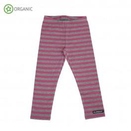 Villervalla - Leggings,  stribet,mørk rosa