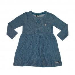 Villervalla - Kjole med lille bryst lomme, blå