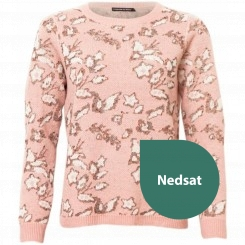 House of Soul - Strik bluse, rosa