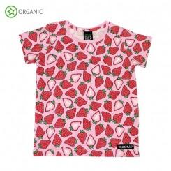 Villervalla - T-shirt med jordbær