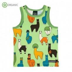 Villervalla - Undertøj-sæt, grøn, lamaer
