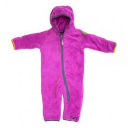 Villervalla - Plys-fleece heldragt, pink