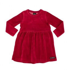 Villervalla - Velour kjole rød