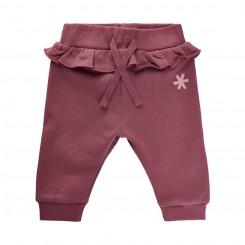 Minymo - Bukser rosa med flæse