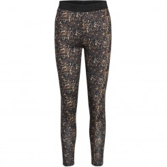 One Two Luxzuz - Legging, brun leopard