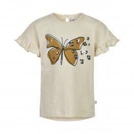 Minymo - T-shirt med sommerfugl