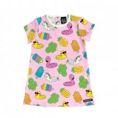 Villervalla - sommer kjole, lyserød