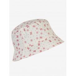En fant - Sol hat, hvid med blomster