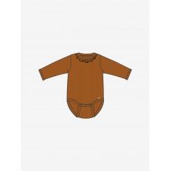Minymo - Body i rib, rust farvet