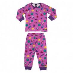 Villervalla - Pyjamas sæt, mørk pink