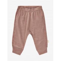 Celavi - Bukser i uld, støvet rosa