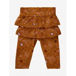 Minymo - bukser med flæser i rust-farvet