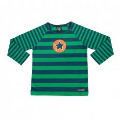 Villervalla - Bluse med striber, marineblå
