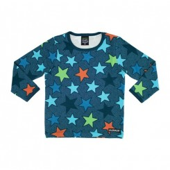 Villervalla - Bluse med stjerner, blå