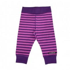 Villervalla - Baby bukser med striber, lilla