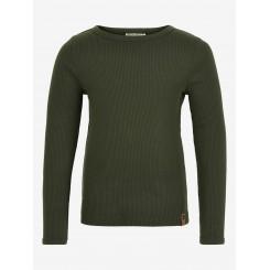 Minymo - Rib bluse i army grøn
