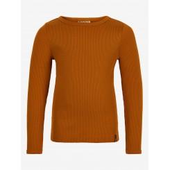 Minymo - Rib bluse i orange