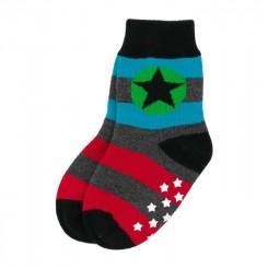 Villervalla - Skridsikre sokker paprika/mosaic