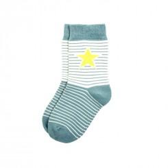 Villervalla - Gråstribet sokker