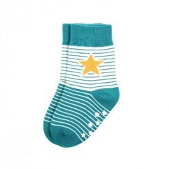 Villervalla - Skridsikre sokker blå