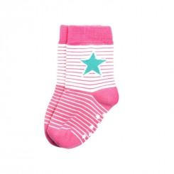 Villervalla - Skridsikre sokker pink