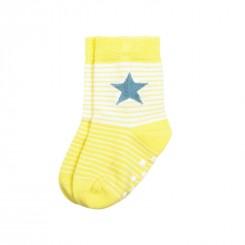 Villervalla - Skridsikre sokker gul