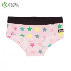 Villervalla - Lyserød stjerne undertøjssæt