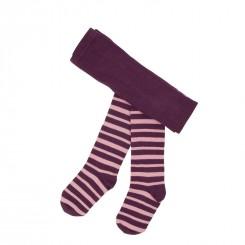 Villervalla - Lilla/rosa stribet strømpebukser