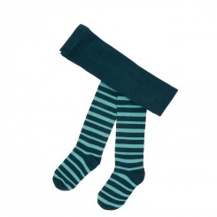 Villervalla - Blå stribet strømpebukser